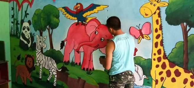 Lukisan Dinding Untuk Sekolah Tk Cikimm Com